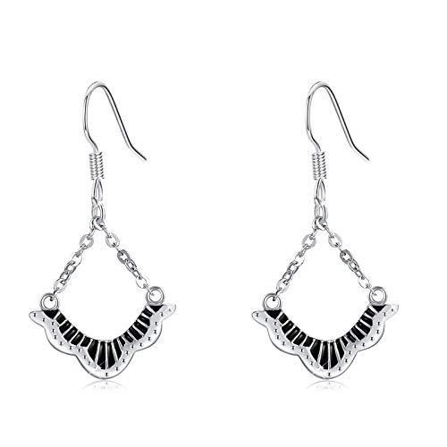 Pendientes colgantes de mariposa para mujer, de plata de ley 925, diseño de mariposa, regalo de cumpleaños para mujeres