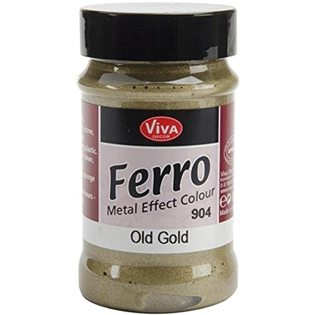 Viva Decor 3-Ounce Ferro Metal Effect Textured Paint, Old Gold