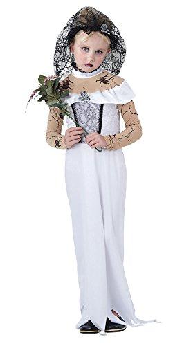 Bristol Novelty CC854 - Costume per bambina da sposa zombie, taglia M, 122–134cm