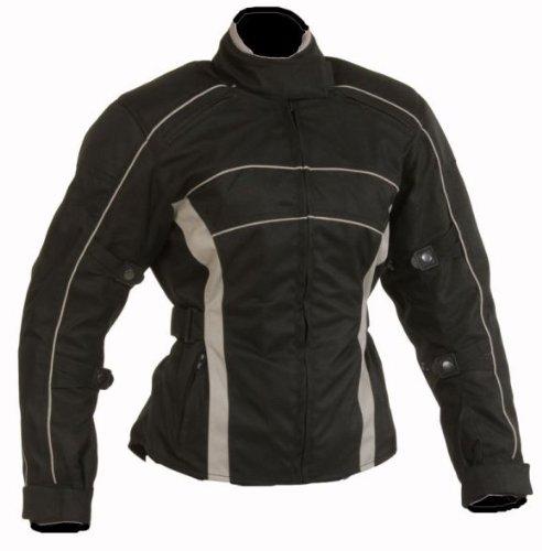 HEYBERRY Damen Motorrad Jacke Motorradjacke schwarz/grau Gr.L