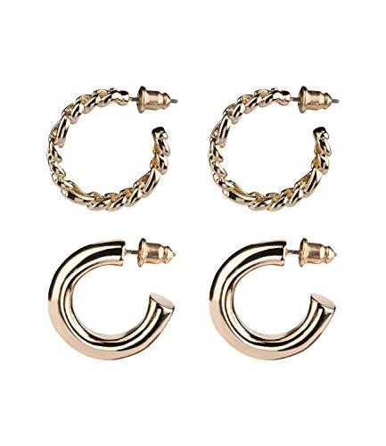 SIX Ohrringe in verschiedenen Größen und Designs im 2er-Set (532-509)