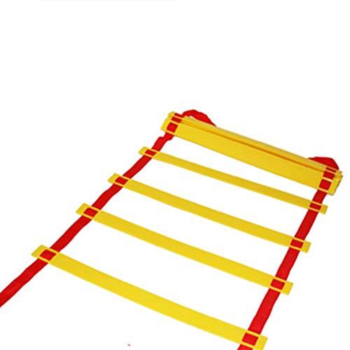 Xin 3/5/6/8/10 Escalera de Agilidad Formación Pace Escalera Velocidad Correas Escala de Cuerda Tab Fútbol Fútbol Escaleras Fitness Equipment Rayuela (Size : 10m 20Rung)