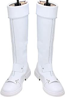 Whirl Cosplay Boots Shoes for My Hero Academia Todoroki Shoto White