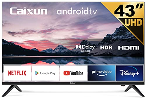 Caixun EC43S1A, 43 inch 4K UHD HDR Smart TV with Google Assistant (Voice Control), Chromecast Built-in, Screen Share, HDMI, USB (2021 Model)