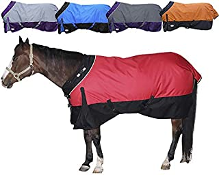 Derby Originals 1200D Ripstop Waterproof Nylon Horse Winter Turnout Blanket with 300g Polyfil Insulation - Two Year Limited Manufacturer's Warranty