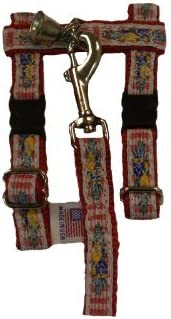 Picnic on Red Adjustable Ferret Harness Classic 100% quality warranty! with 4 Matching Bell and