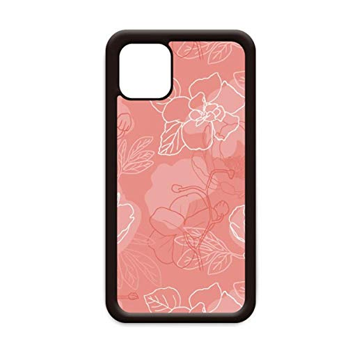 Flower Plant Line pioen patroon voor Apple iPhone 11 Pro Max Cover Apple mobiele telefoonhoesje Shell, for iPhone11 Pro