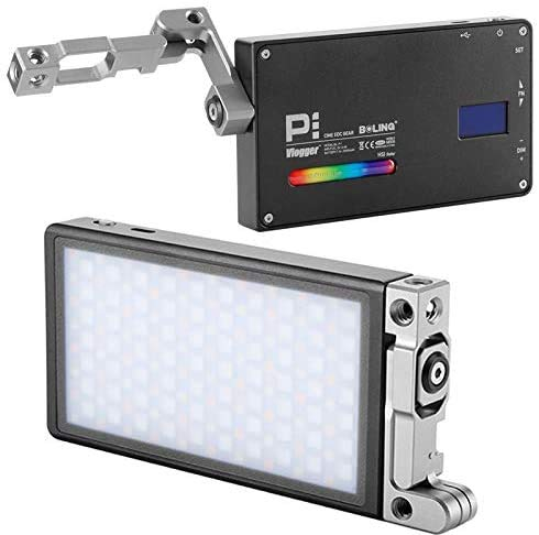 Boling BL-P1 12W RGB Eingebauter Akku Led auf Kamera-Videoleuchte Pocket Size Bi-Color 2500K-8500K 0-360°Full Color & Color Saturation Adjustment Led Foto Licht Aluminum Light Body MEHRWEG