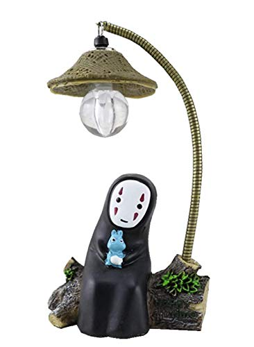 BJZP Hayao Miyazaki Anime Totoro Spirited Away Lamp No Face Man Night Light Reading Table Desk Lamps Handicraft Home Accessories for A Creative Gift for Birthday
