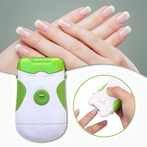 Sysow Lime à Ongles Coupe-Ongles électrique 2 en 1, Coupe-Ongles électrique avec lumière LED, Accessoire d'outils de manucure pour Coupe-Ongles pour la Maison