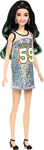 Barbie Fashionista - Muñeca con pelo negro y mechas verdes