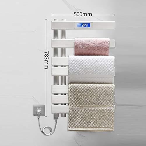 Handdoekwarmer platpaneel elektrisch verwarmde handdoekhouder, wandmontage radiator 783 x 500 mm - Moderne centrale verwarming plaatsbesparende radiator - Perfect voor de badkamer, wit modern design