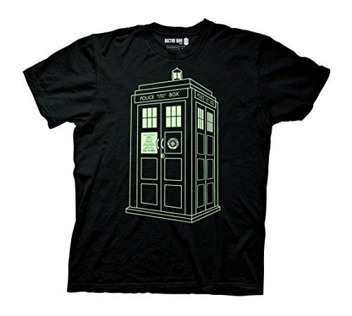 Doctor Who Tardis Outline Glow In The Dark T-Hemd   M