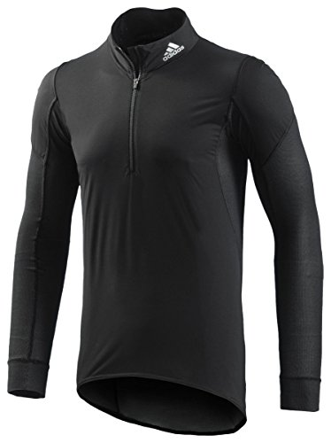 adidas sous-vêtement Fonctionnel de Cyclisme pour Homme - Manches Longues - Noir/argenté réfléchissant - Taille S