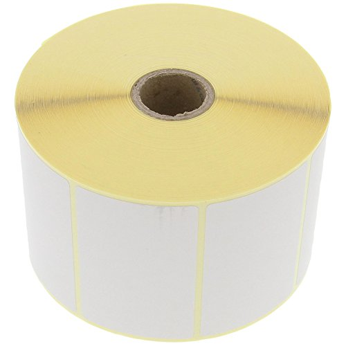 foto-kontor Etiketten 70 x 45 mm Thermo Direkt 1500 Stück pro Rolle Weiß Selbstklebend Permanent
