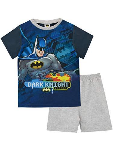 Batman Pijamas de Manga Corta para niños DC Comics Azul 7-8 Años