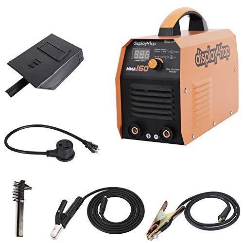 Display4top MMA-160,160 Amp Stick ARC IGBT Digital Inverter DC Welder,Digital Display 110V/220V Dual Voltage Input Welding Machine