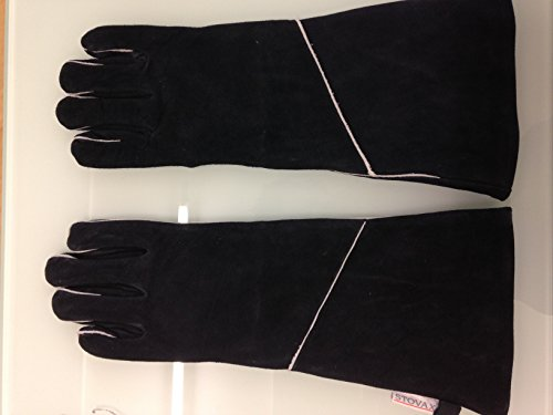 Fires NEW Stovax Leather Extra Long Heat Resistant Stove Gloves/Gauntlets 17