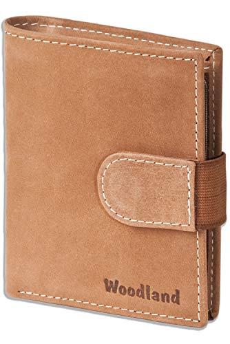Woodland - billetera Super-compacto con XXL tarjeteros para 18 tarjetas hechas de aficionados no tratados en Cognac