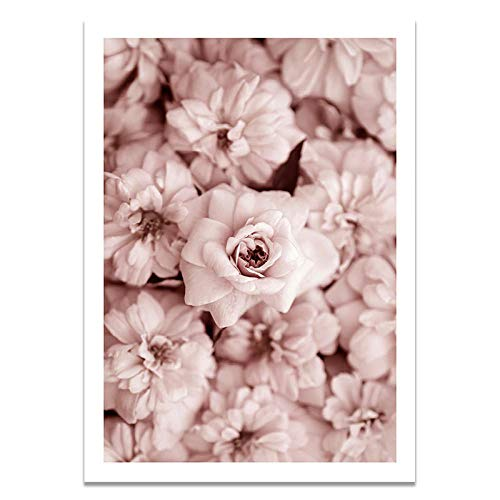 U/N Erröten rosa Pfingstrose Rose Vintage Tür Wandkunst Bild Leinwand Malerei Poster und Drucke für Wohnzimmer-8