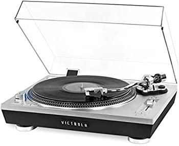 Victrola Pro Series USB Record Player with 2-Speed Turntable and Dust Cover Silver  VPRO-2000-SLV