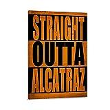 Mymelo Straight Outta Alcatraz Kunst-Poster, dekoratives