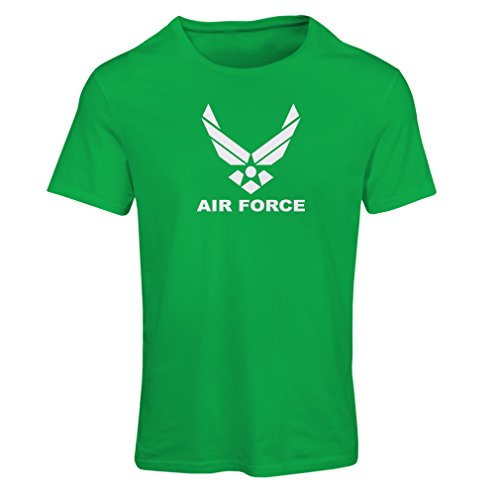 lepni.me Camiseta Mujer United States Air Force (USAF) - U. S. Army, USA Armed Forces (Small Verde Blanco)