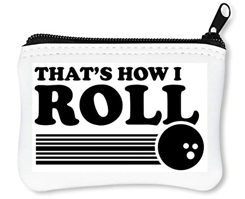 That's How I Roll Bowling Reißverschluss-Geldbörse Brieftasche Geldbörse