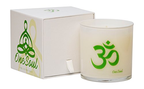 White Tea Thyme Candle by OneSoul Candles | Natural Soy...