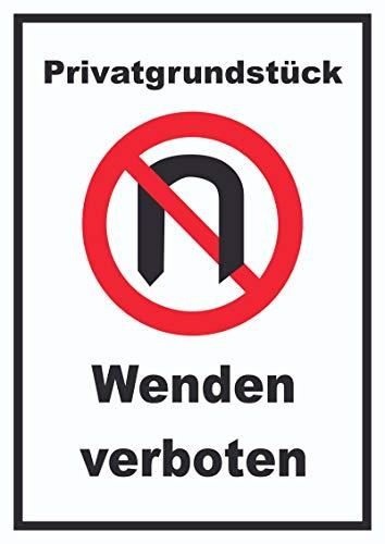 HB-Druck Privatgrundstück Wenden verboten Schild A3 (297x420mm)