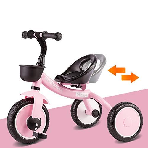 XIAOYANG Baby-Fahrrad-Kinderwagen 1-3-6 Jahre Alte Kinder Dreirad Spielzeug Sitz Verstellbar Kindergeburtstag Geschenke Innen- Und Außen Kombinations (Color : Pink)