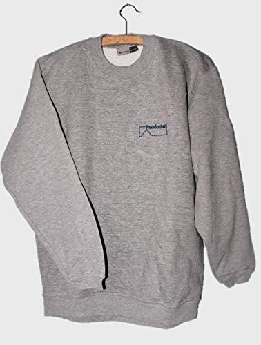 Basic trui ronde hals grijs crewneck sweatshirt pulli sweater basic pullover X-Large