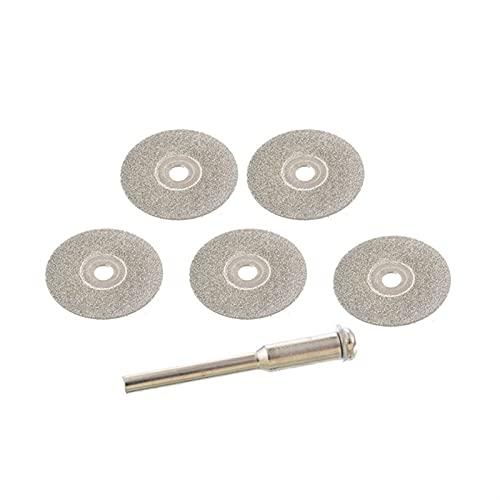 Rueda de corte de diamante de alto rendimiento y d Disco de corte para accesorios de rotorios Rueda de diamante Rueda Rotaria Cuchilla de sierra circular Abrasivo Diamond Disc ( Color : 22mm 5pcs )