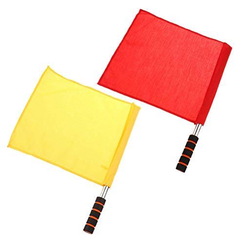 BSTQC Schiedsrichter-Set Flaggen Schiedsrichter-Signalflagge für Spiel und Spiel, 2 Stück