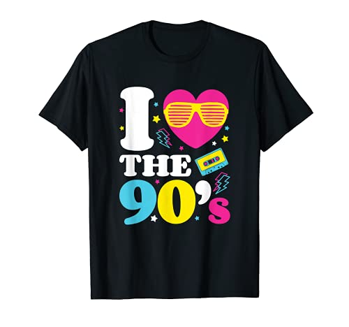 I love the 90er's T-Shirt Retro 90er Jahre Kostüm Party T-Shirt
