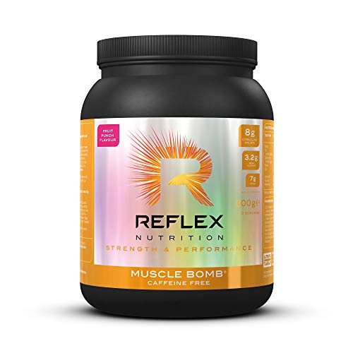 Reflex Nutrition Muscle Bomb Ultimate PRE-Workout Powder 7g BCAA's 2g L-Carnitine 3.2g Beta-Alanine (600g) (Fruit Punch)