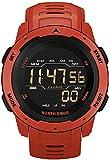 ZFAYFMA Uomo Smart Watch Temperatura Temperatura Fitness Fitness Frequenza Cardiaca da 50 M Cintura Impermeabile Orologio in Silicone Sport Luxury Automatic Digital Red
