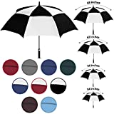 Viteps Large Golf Umbrella   Big Golfing Umbrella for Wind and Rain   Double Canopy Wind and...