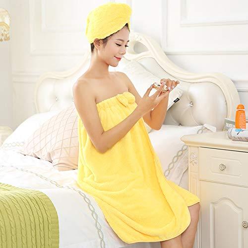 ZJHCC Toallas,Toallas de baño Grandes,Toallas de algodón,Toallas de baño de Toalla de Cuatro Piezas para Uso doméstico para Mujeres,se Pueden Envolver,absorbentes y de Secado rápido,Suaves