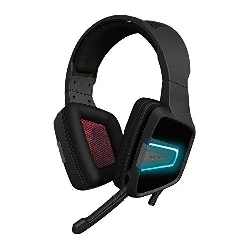 Patriot Viper Gaming V370 - Gaming Headset, Kopfhörer für PC (40mm Audiotreiber, mit virtuellen 7.1-Surround-Sound, RGB hintergrundbeleuchtet, Robuster Rahmen und Komfortable Ohrpolster)