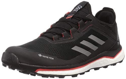 adidas Terrex Agravic Flow GTX, Zapatillas de Running Hombre, NEGBÁS/Gricua/Rojsol, 42 EU