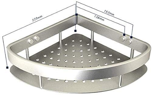 MENG Badregal Shelf Schlags-Free Space Aluminium Badezimmer Küche Rack-Badezimmer-Anhänger Badezimmer-Rack Handtuchwärmer Durable Duschraum Sims (Size : 22 * 22cm)