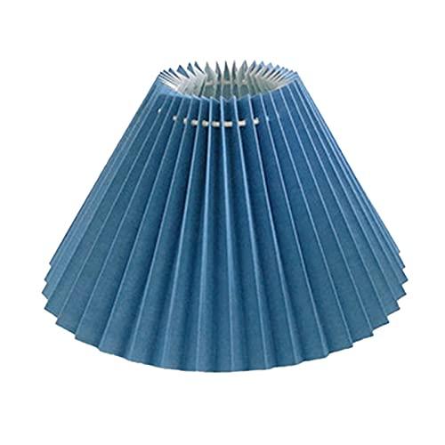 WZDTNL Pantalla plisada para lámpara de mesa, pantalla plisada con forro interior, tela de estilo japonés para decoración de techo para el hogar
