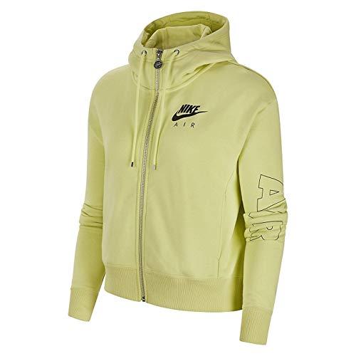 Nike Damen NSW Air Fz Fleece Bb Hoodie, Limelight/Ice Silver, XL