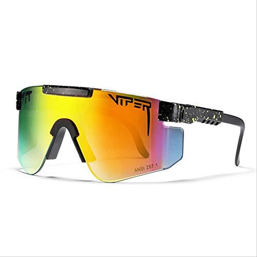 QETRYT Gafas De Sol Polarizadas Pit Viper Sport Para Hombres Y Mujeres,Gafas A Prueba De Viento Al Aire Libre, Lentes Con Espejo Uvc35