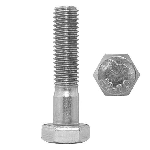 Tornillos hexagonales con vástago M14 x 80 mm, DIN 931 de acero...