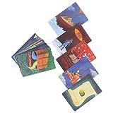 Tarot Cards Deck, 84 Piezas Wonderful Original Classic Design Adivination Fate Playing Papel Revestido Oracle Cards Desktop Interacción Futuro Juego de Mesa para Principiantes, Lector
