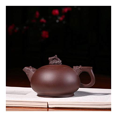 YYFUS Virtuous Famous Hand-boutique Teapot Teapot Tea Gift Coffee Tea Maker Sand Pot (Color : Purple mud)