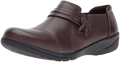 Clarks Women's Cheyn Madi Loafer, Dark Brown Tumbled Leather, 7.5 M US