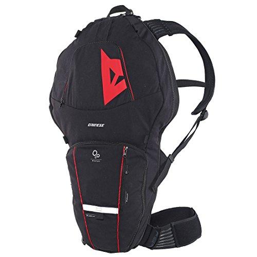 Dainese Erwachsene Rucksack Pro Pack, Schwarz/Rot, 62 x 35 x 8 cm, 12 Liter